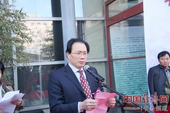 国画家李俊香致答谢辞 中国经济网记者李冬阳摄