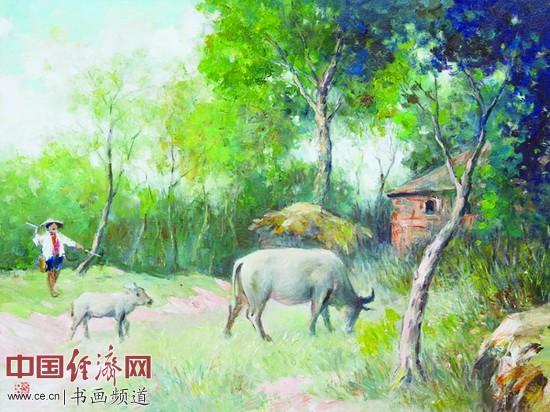 《初夏的牧牛娃》2011年吕洪仁